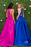 JVN by Jovani 47530 prom dress with bow tie in open back