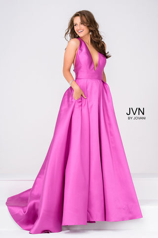 Pink Bow in Back Prom Dress