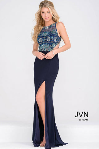 JVN by Jovani 47907 size 4 Navy prom dress pageant gown
