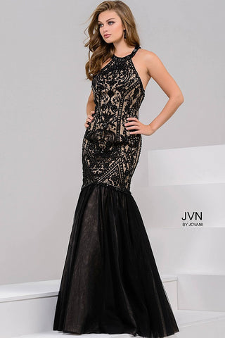 JVN by Jovani 48702 size 8 Black mermaid prom dress