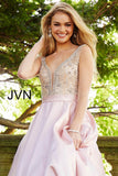 Jovani JVN 60696 Size 0 , 2 Prom Dress Ball Gown Sheer Illusion Embellished Pockets