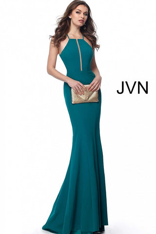 JVN by Jovani 62552 open tie back fitted prom dress