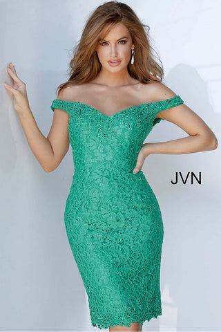 JVN62568 off the shoulder short lace fitted cocktail dress homecoming dress short prom dress