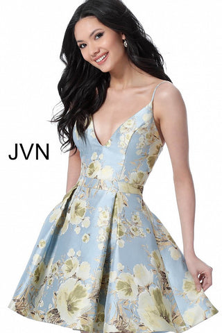 JVN by Jovani 63122 Short fit and flare homecoming dress-