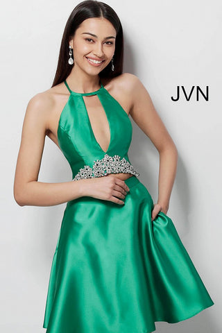 JVN by Jovani 63123 two piece T back homecoming dress-