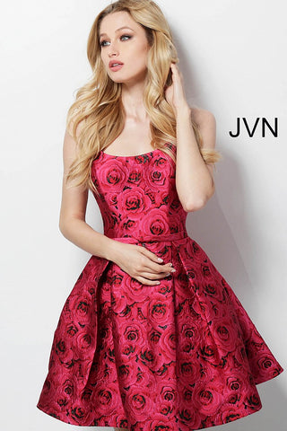 JVN by Jovani 63387 Rose Print homecoming dress-
