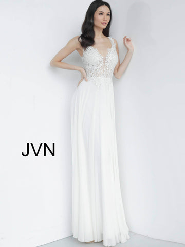 Jovani JVN64107 Wide straps embellished bodice prom dress