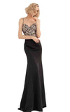 Jovani JVN66059 Size 2, 10 Long sheer Embroidered lace prom dress Sheer formal gown