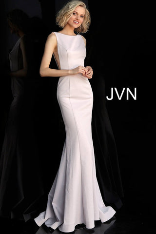 Jovani JVN67090 high neckline open back fitted prom dress