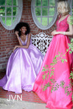 Jovani JVN67198 Royal Size 20 prom dress A Line Ballgown Plus Size Royal