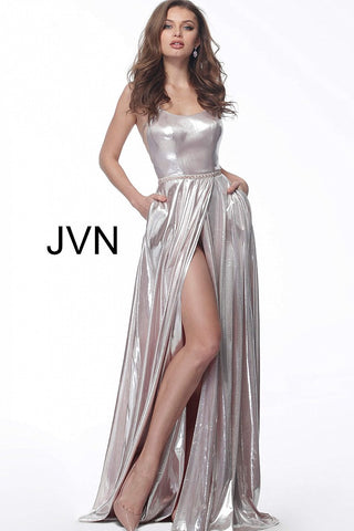 JVN by Jovani 68195 open back criss cross straps pink prom dress