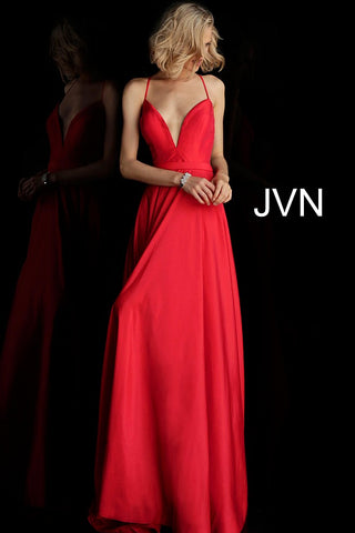Jovani JVN68321 open back corset long A line prom dress pageant gown evening dress