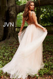 Jovani JVN 46081 Size 6 Sheer Prom Dress Overskirt V Neck Formal Pageant