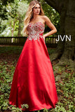 Jovani JVN 50070 Size 12 Strapless A Line Prom Dress Embroidered Formal Gown