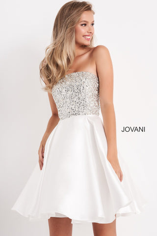 Jovani Kids k00722 Girls Fit & Flare Short Embellished Formal Dress Pageant Gown