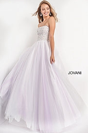 Jovani Kids K02229 embellished top long tulle ballgown for girls, tweens, formal dress