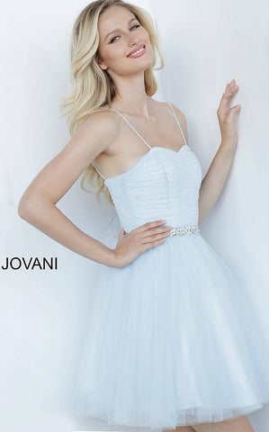 Jovani Kids 4761 Short Fit & Flare Girls Cocktail Party Dress Crystal Belt 2020 Tulle