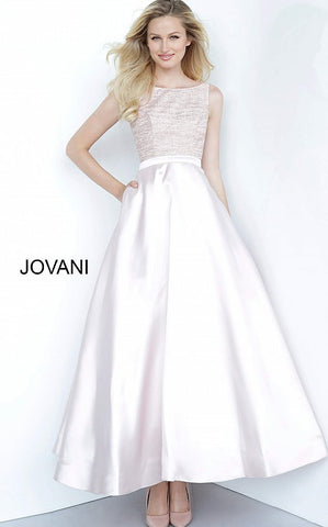 Jovani Kids k64808 is a Girls Party Dress, Kids Pageant Gown & Pre Teen Formal Evening Wear gown. This Tea Length Girls Party Dress Features a Metallic Shimmer Fitted Bodice with a High Boat Neckline. A Line Tea Length Skirt with Side Pockets! V Back. Great Formal Holiday Party Dress!  Available Girls Sizes: 8, 10, 12, 14  Available Colors: Blush, Navy, White, Wine