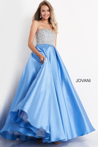 Jovani Kids k66689 is a Long Girls Party Dress, Kids Pageant Gown & Pre Teen Formal Evening Wear gown. This Girls Ballgown Features a Strapless straight neckline with a fitted bodice Embellished with Crystals & Rhinestones. A Line Pleated Ballgown Skirt - Floor Length. Great Girls Pageant Dress!  Available Girls Sizes: 8, 10, 12, 14  Available Colors: lilac, pink, silver, sky-blue, white
