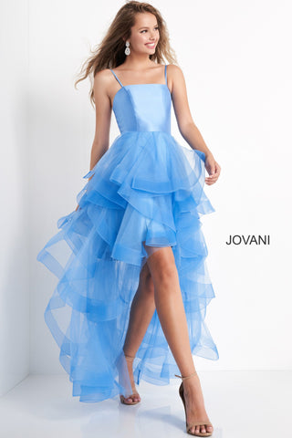 Jovani Kids k66708 Tulle Ruffle High Low Girls Formal Dress Party Gown Short Long