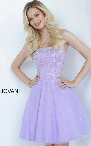 Jovani Kids 68936 Strapless Fit & Flare Beaded Girls Formal Party Dress Crystal 2020