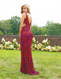 Primavera Couture 3208 Red Plum Size 4 Prom Dress Pageant Gown