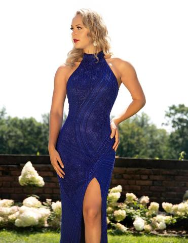 Primavera Couture 3218 Size 6 Royal Blue