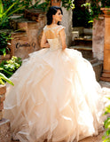 Camila Q Quinceanera Dress 19002 High Neck Ruffle Skirt Ballgown 2020