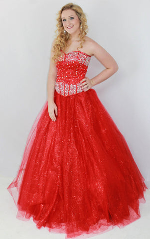 GSF4031B Two Piece Ballgown Red red size 2, 12, 16