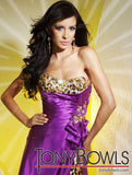 TONY BOWLS PARIS 112739 Size 0 PROM DRESS LEOPARD PRINT Pageant Gown