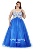 Sydneys Closet style SC 6009 Navy size 20 Prom Dress Pageant Gown Plus Size