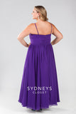 Sydneys Closet style 7071 Plus size evening dress Purple size 30
