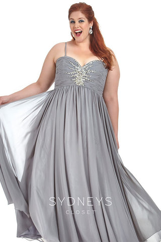 bdf6712fa9f ... Sydney s Closet SC7071 Starburst Plus Size Prom Dress ...