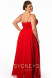 Sydney's Closet SC7071 Starburst Plus Size Prom Dress Formal Evening Gown