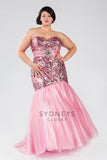 Sydneys Closet style 7097 Sexy plus size Mermaid Prom Dress Pink size 20