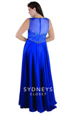 Sydneys Closet SC7212 Follow me long formal prom gown in Royal Blue size 14