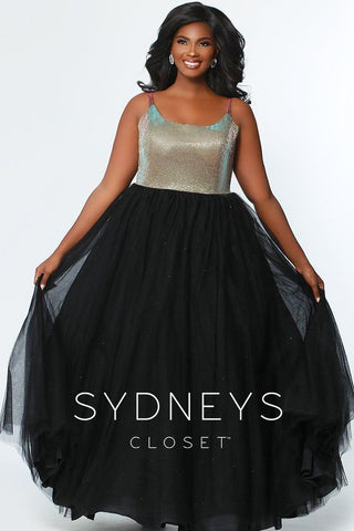 Sydneys Closet 7265 Holographic Gold and Black Sizes 14-32