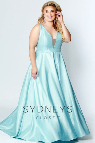 Sydneys Closet 7273 Blush and Ice Blue Sizes 14-40