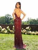 Primavera Couture 3229 Long Fitted V Neck Formal Dress Slit Backless Gown