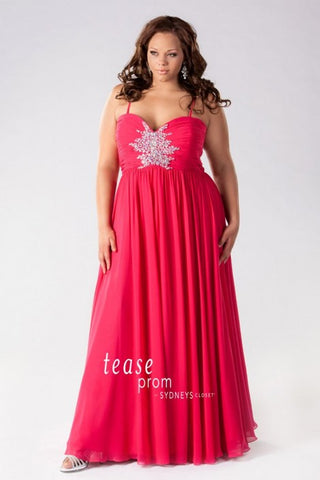 Tease Prom TE1455 Fuchsia size 16 Plus sized Prom Dress Evening Gown