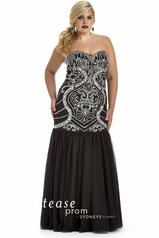 Tease Prom 1619 black size 22 Prom Dress Pageant Gown Plus size