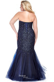 Tease Prom by Sydney's Closet style TE1620 Navy size 14  prom dress