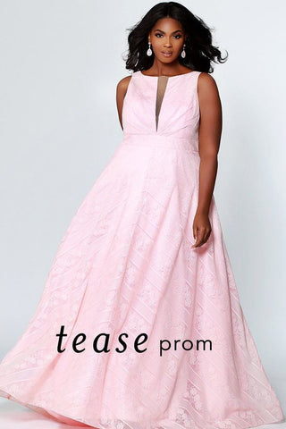 Tease Prom By Sydney's Closet 1936 Blush Size 28 Prom Dress Pageant Gown