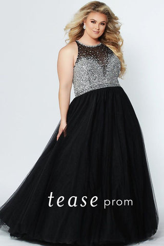 Tease Prom Sydney's Closet 1938 Black Size 14 Prom Dress Pageant Gown Tulle