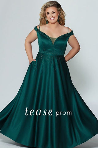 Tease Prom by Sydney's Closet 1941 Emerald Size 26 Prom Dress Pageant Gown