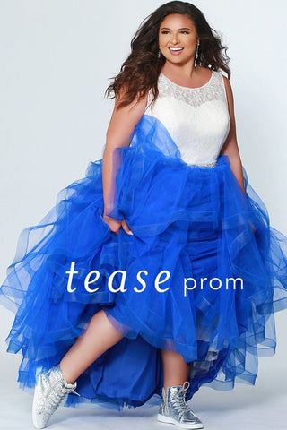 Tease Prom by Sydney's Closet 1946 Frosted Cobalt Size 16