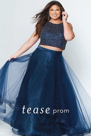 Tease Prom By Sydney's Closet 1951 Midnight Blue Size 24