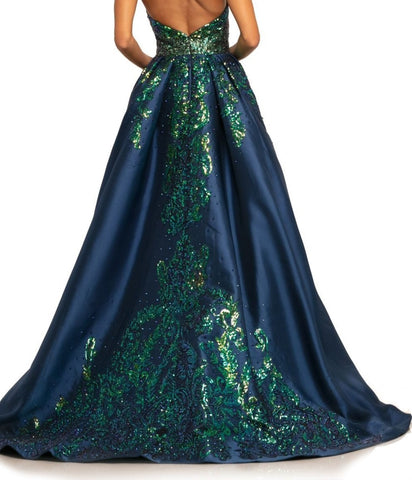 Johnathan Kayne 2016 Sequin Mikado Prom Dress Pageant Gown Fitted Ball Glass Slipper Formals