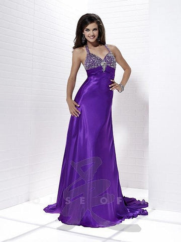Tiffany Exclusive 46833 Amethyst size 14 Prom Dress Pageant Gown Long Satin