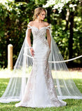 Adagio Bridal 9288 off the shoulder bridal gown Lace Cap Wedding Dress